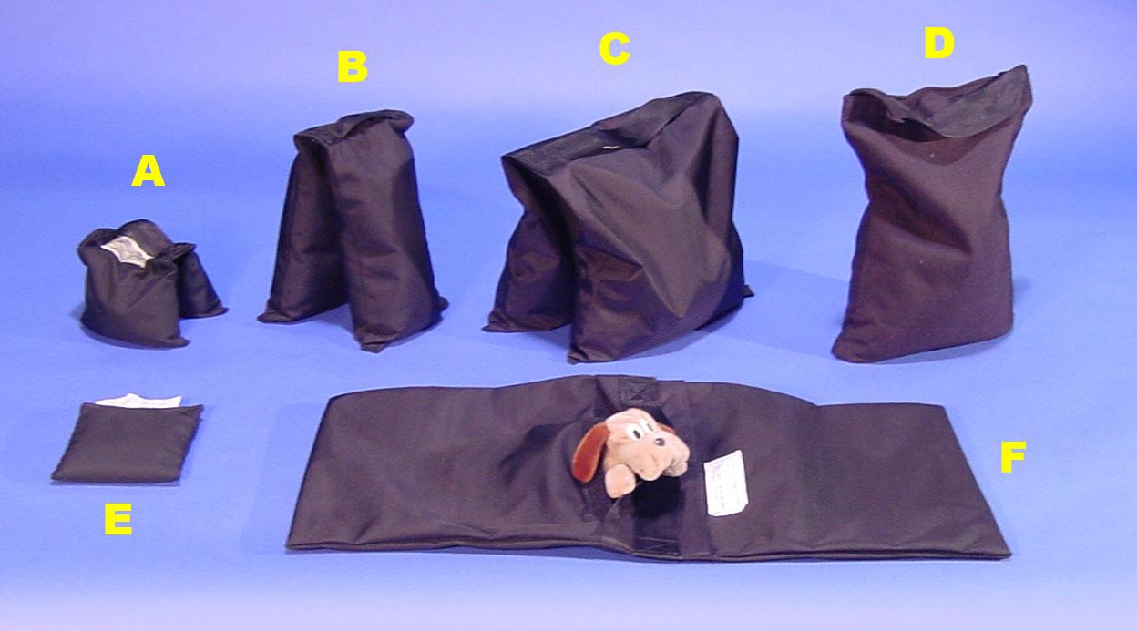 Baby sand bag, saddle sand bag, pony sand bag, single sand bag, fly-a-way sand bag, pillow bag
